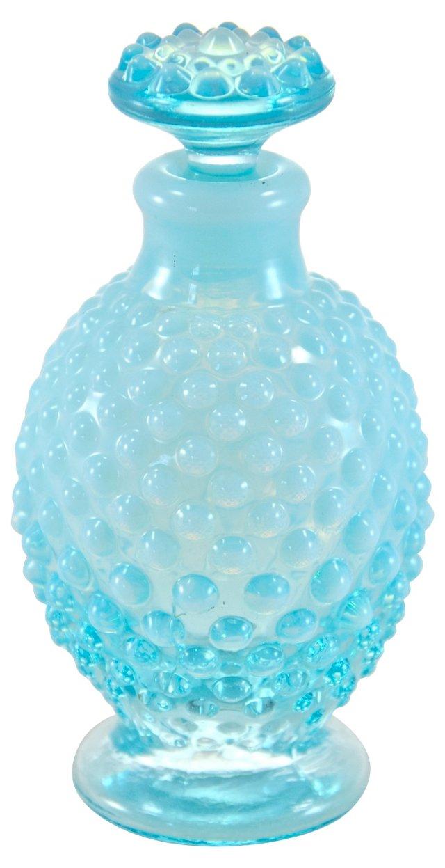 Turquoise Hobnail Perfume Bottle