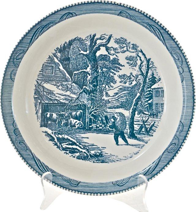 Currier & Ives Pie Plate, Pair