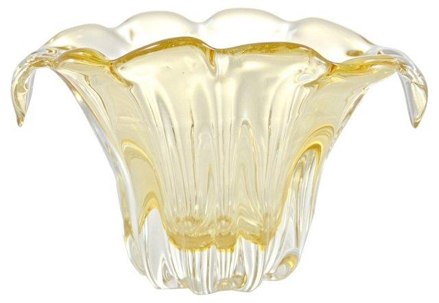 Golden Italian Art Glass Vase