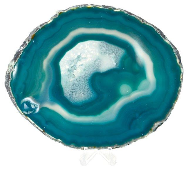 Aqua-Blue Agate Slice