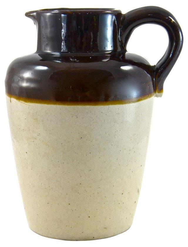 Rustic Salt-Glaze Jug