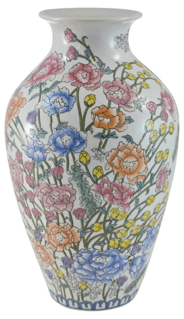 Chinese Floral Urn