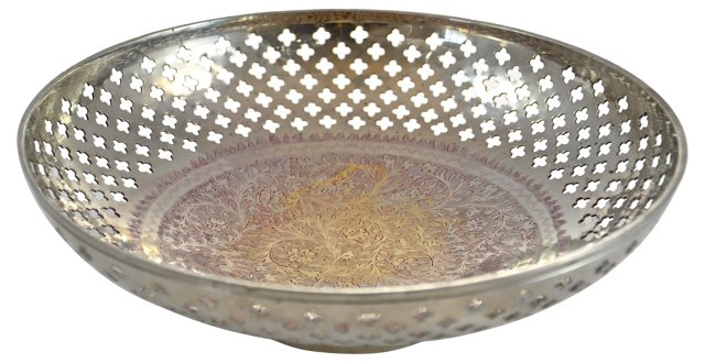 Silver Pierced Bowl