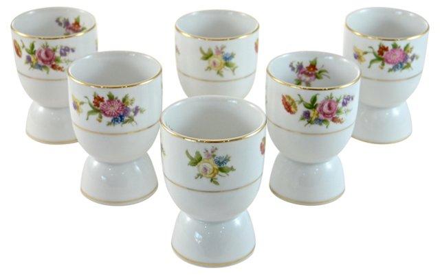 1930s Noritake Porcelain Cups, S/6