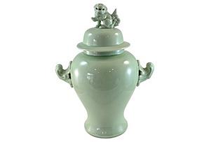 Green Foo Dog Ginger Jar