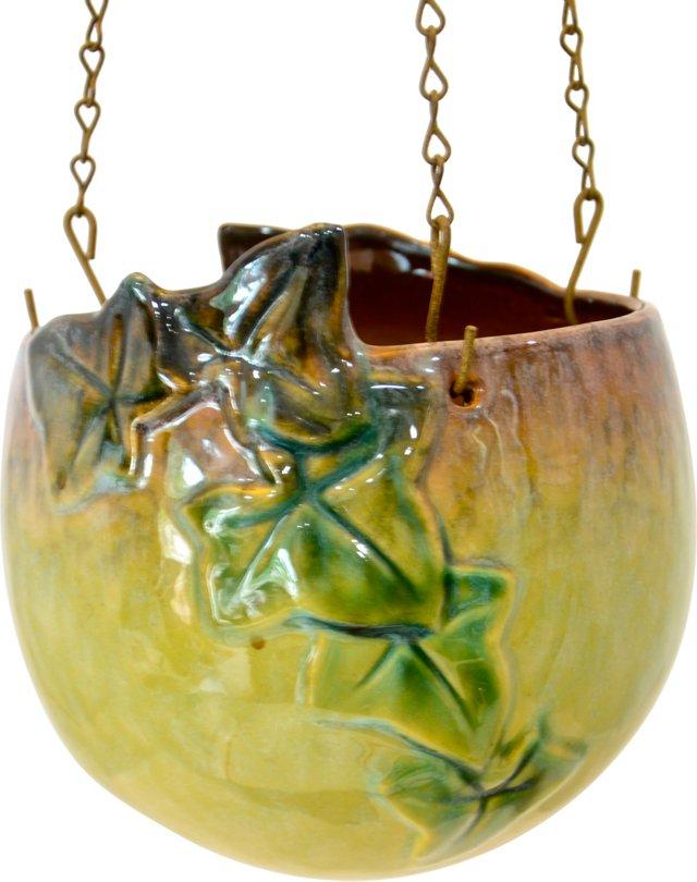 Lime Green Hanging Pot