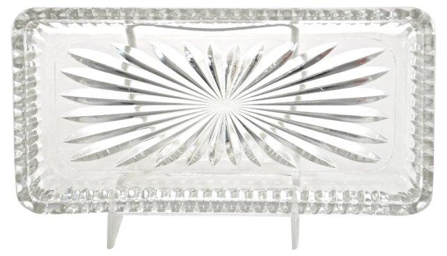 Starburst Glass Vanity Tray