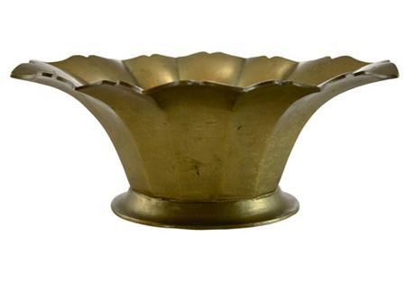 Solid Brass Petal Rim Bowl