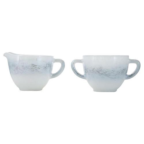 Cream & Sugar Bowls, 2 Pcs