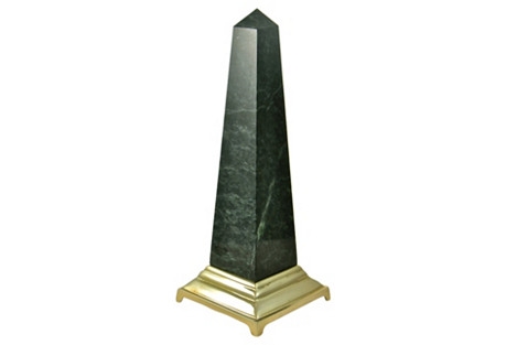 Green Marble Obelisk
