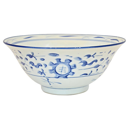 Blue & White Chinese Floral Catchall