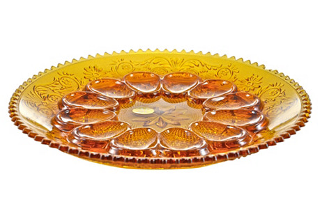 Golden Topaz Glass Tray
