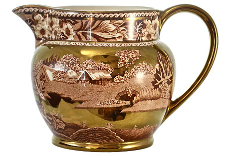 Wedgwood Gold Luster Fallow Deer Pitcher