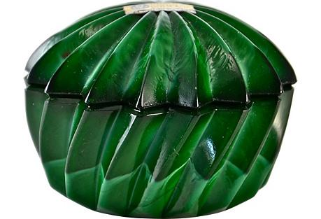 Malachite Glass Swirl Box