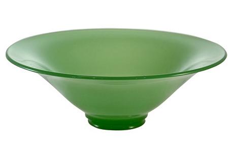 Jadeite Glass Centerpiece Bowl