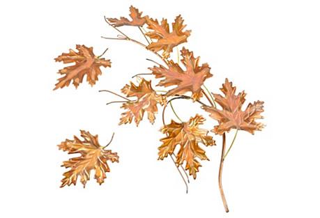 Copper & Brass Leaves