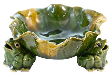 Green Frog Bowl