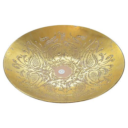 Dorothy Thorpe Gold Paisley Bowl
