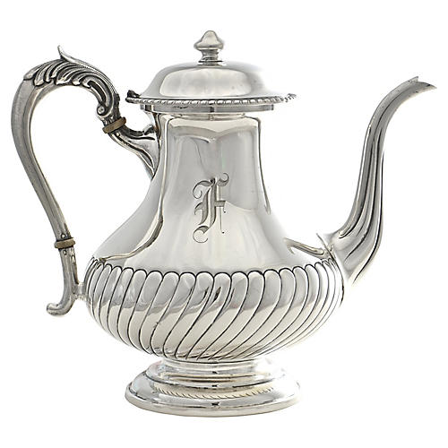 1950s Sterling Silver Coffee Pot