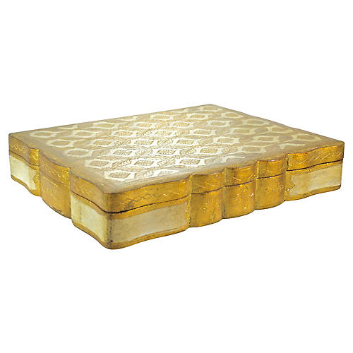 Florentine Gilt Scalloped Box