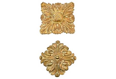 Mediterranean Wall Medallions, Pair