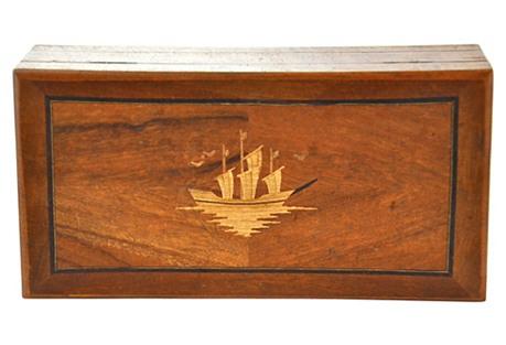 Nautical Marquetry Box