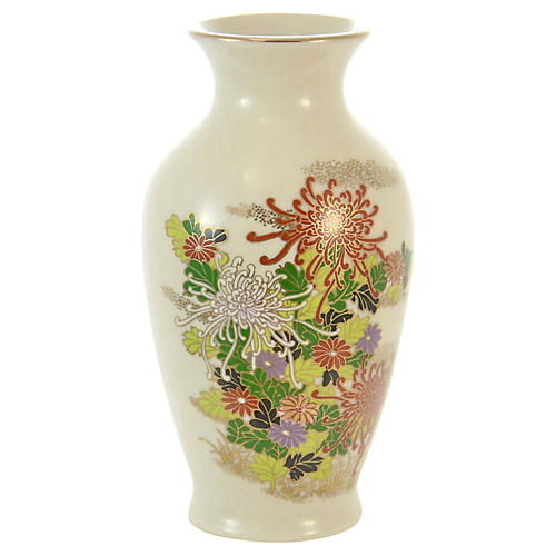 Flowering Kutani Vase