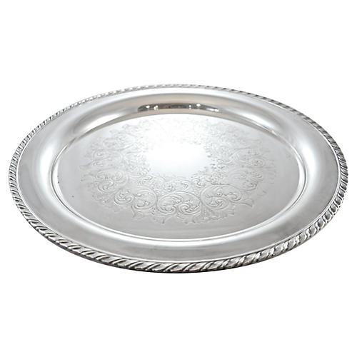 Round Silver Plate Tray
