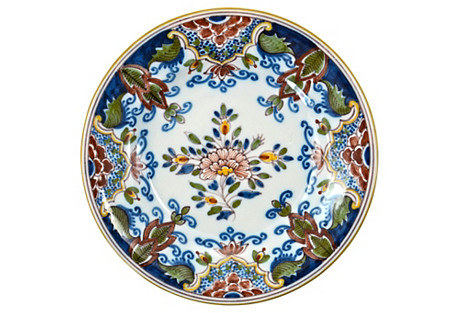 Blue Hand-Painted Delft Plate