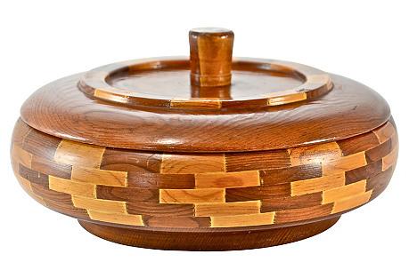Midcentury Redwood Souvenir Box