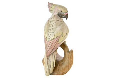 Carved Wood Parrot