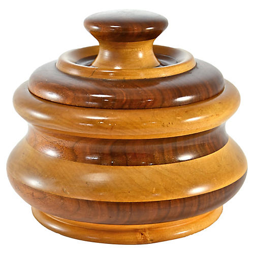 Turned Wood Jar