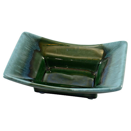 Midcentury Aqua & Emerald Green Catchall