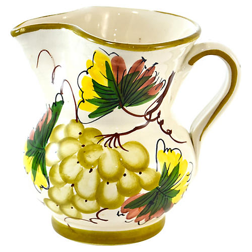 Tuscan-Style Grape Pitcher