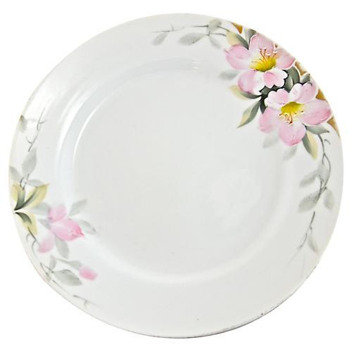 Porcelain Blossom Plates, S/4