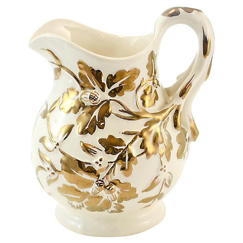 Mason's English Oak Leaf Gold Jug