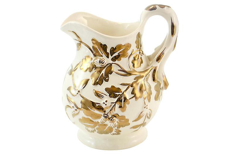 Mason's English Oak Leaf Gold Jug