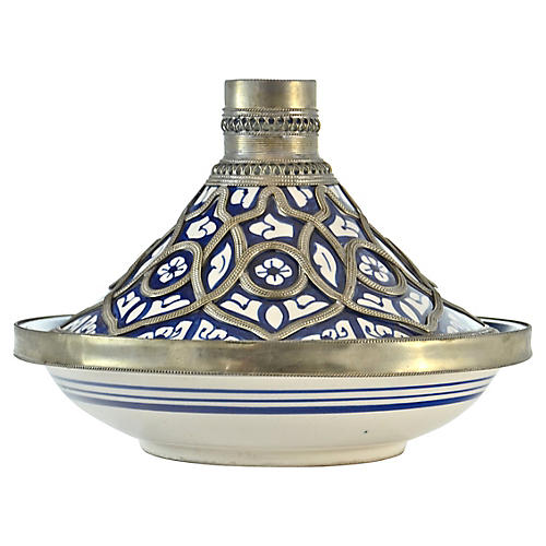 Blue & Silver Moroccan Catchall