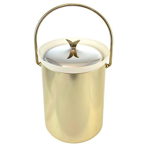 Gold Midcentury Ice Bucket