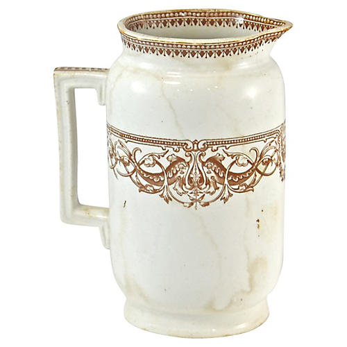 19th-C. English Transferware Pitcher