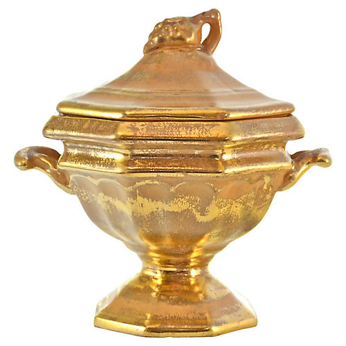 Gold Stangl Lidded Urn