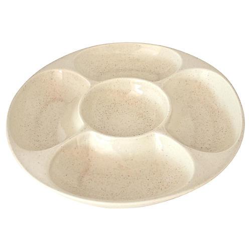Ivory Ceramic Hors d' Oeuvres Tray