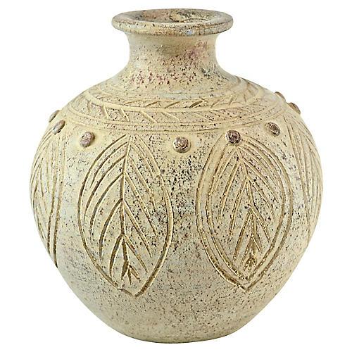 White Terra Cotta Studio Art Vase