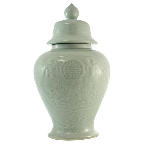 Chinese Jade Green Ginger Jar