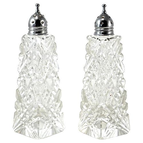 Cut-Crystal Salt & Pepper Shakers