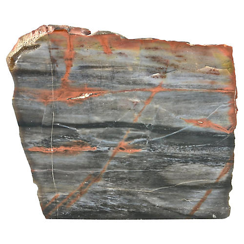 Natural Red Agate Free Standing Slab