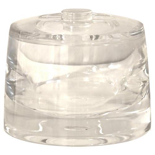 Midcentury Lucite Jar
