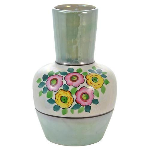 Green Luster Japanese Vase