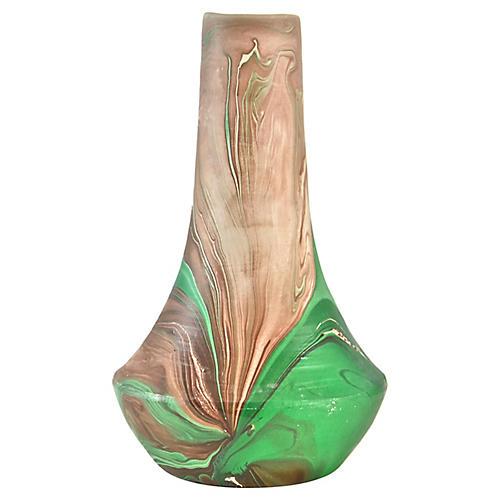 Green Nemadji-Style Vase