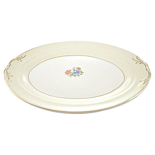 Oval Floral Bouquet Tray
